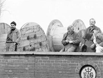 Arbeiter bei Felten & Guilleaume 1982 (DOMIT-Archiv)