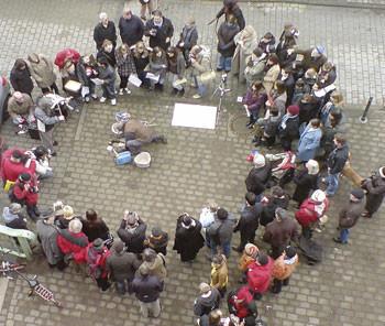 Verlegung von 10 Stolpersteinen in der Bachstraße