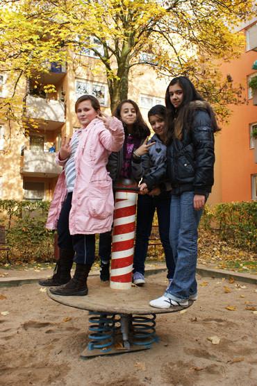 Schülerinnen der Hauptschule Tiefentalstraße (Foto: Joachim Römer)
