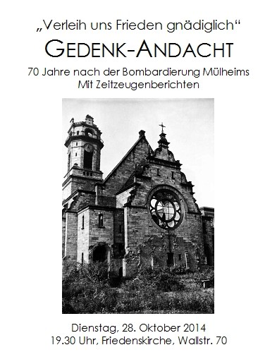 Einladung der Friedenskirche Köln Mülheim am Rhein