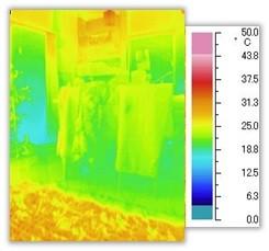 プレウォールのリビングの温度:総建ハウジング