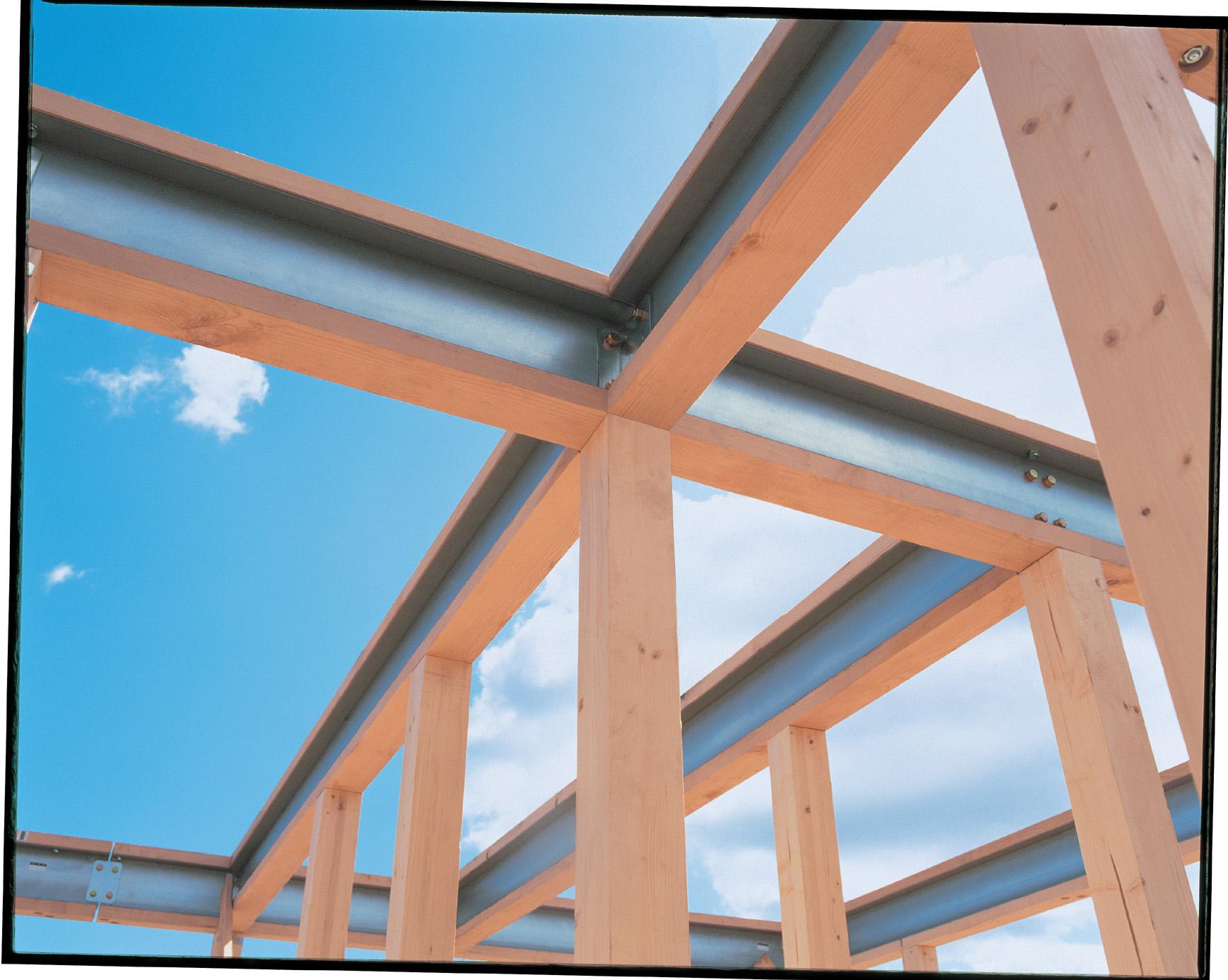 構造計算ではじき出された部材で造り上げる世界で1棟の住いが完成します