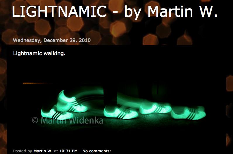 Screenshot meiner Seite lightnamic.com mit den Fotos des Prototypen.