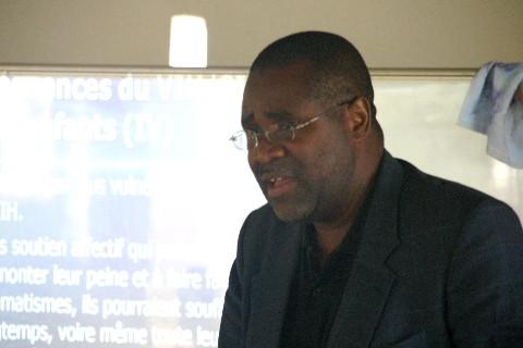 Séminaire sur la prévention du VIH: le médecin Dr Kabila