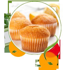 Zitronen-Muffins zuckerfrei ohne Zucker, Rezept für Muffins, Süßstoff, Aspartam, Stevia, kalorienarm, backen