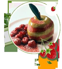 Apfel in Kirschgrütze zuckerfrei ohne Zucker, Rezept fuer Apfeldessert, zuckerfreies Dessert, Obst, Nachtisch, Süßstoff