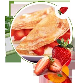 Crepes zuckerfrei ohne Zucker, Rezept fuer Crepes mit Orangensauce, zuckerfreie gefüllte Crepes, Pfannkuchen, Süßstoff, kalorienarm