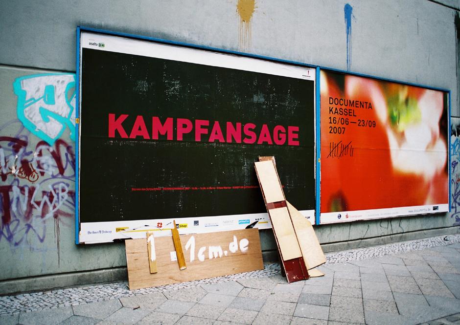 Berlin Neukölln 2007 Werbeplakat Kampfansage