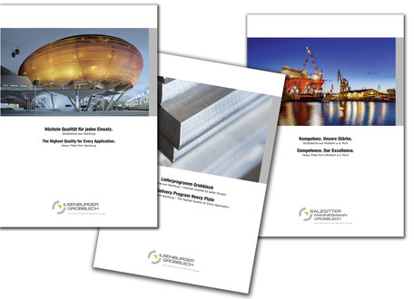 Imagebroschüre und Lieferprogramm Ilsenburger Grobbleche