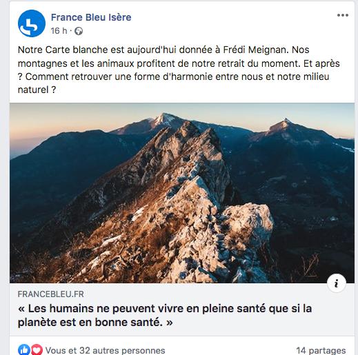 La chronique d'hier matin sur France Bleu Isère. Merci à eux ! (cliquer sur la photo pour écouter)