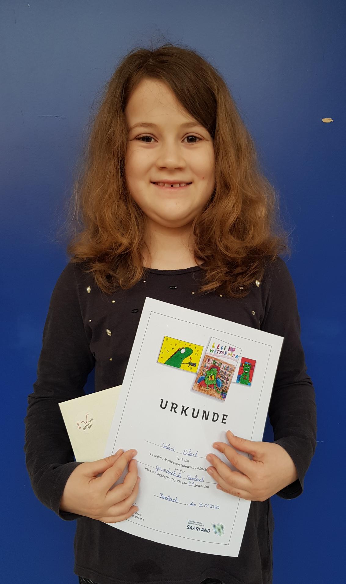 Valerie Eckert aus Klasse 4.1