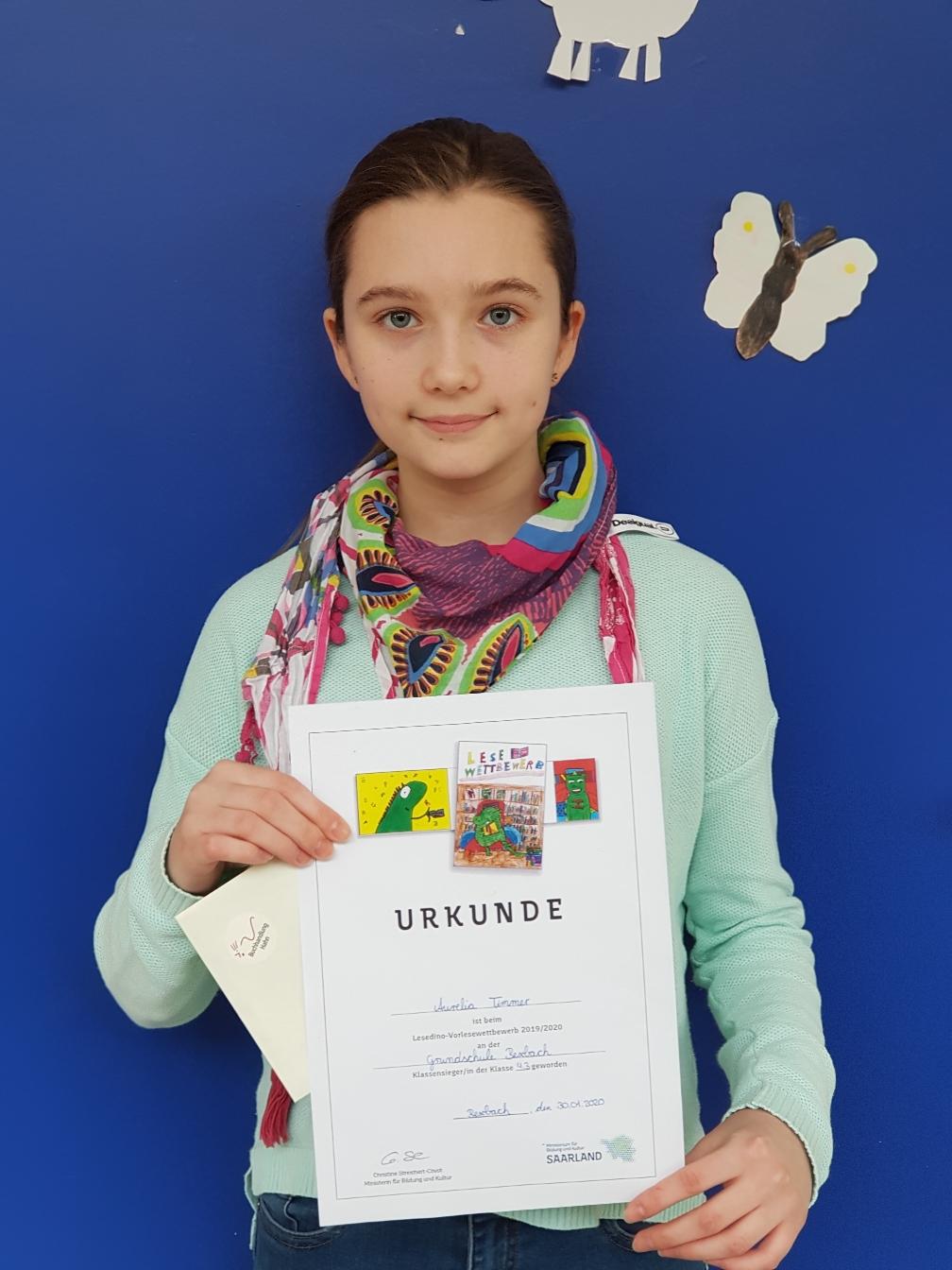 Aurelia Timmer aus Klasse 4.3