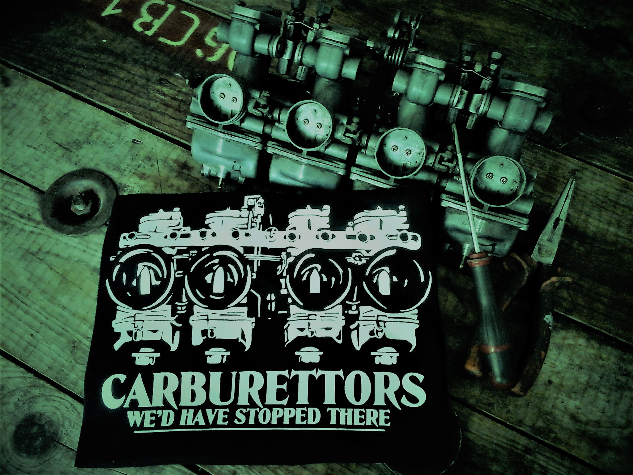 "Tee-shirts BIO ""Carburettors"""