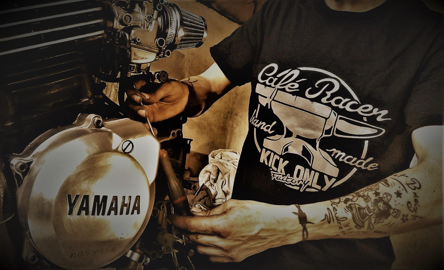 "Tee-shirts coton ""café racer hand made"""