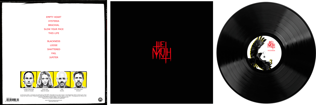 The Moth – Hysteria – LP Cover back (Cover, Inner Sleeve, Label)