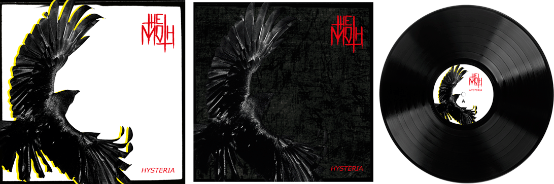 LP Cover front (Cover, Inner Sleeve, Label)  für THE MOTH – HYSTERIA | Tools: Photoshop, Illustrator