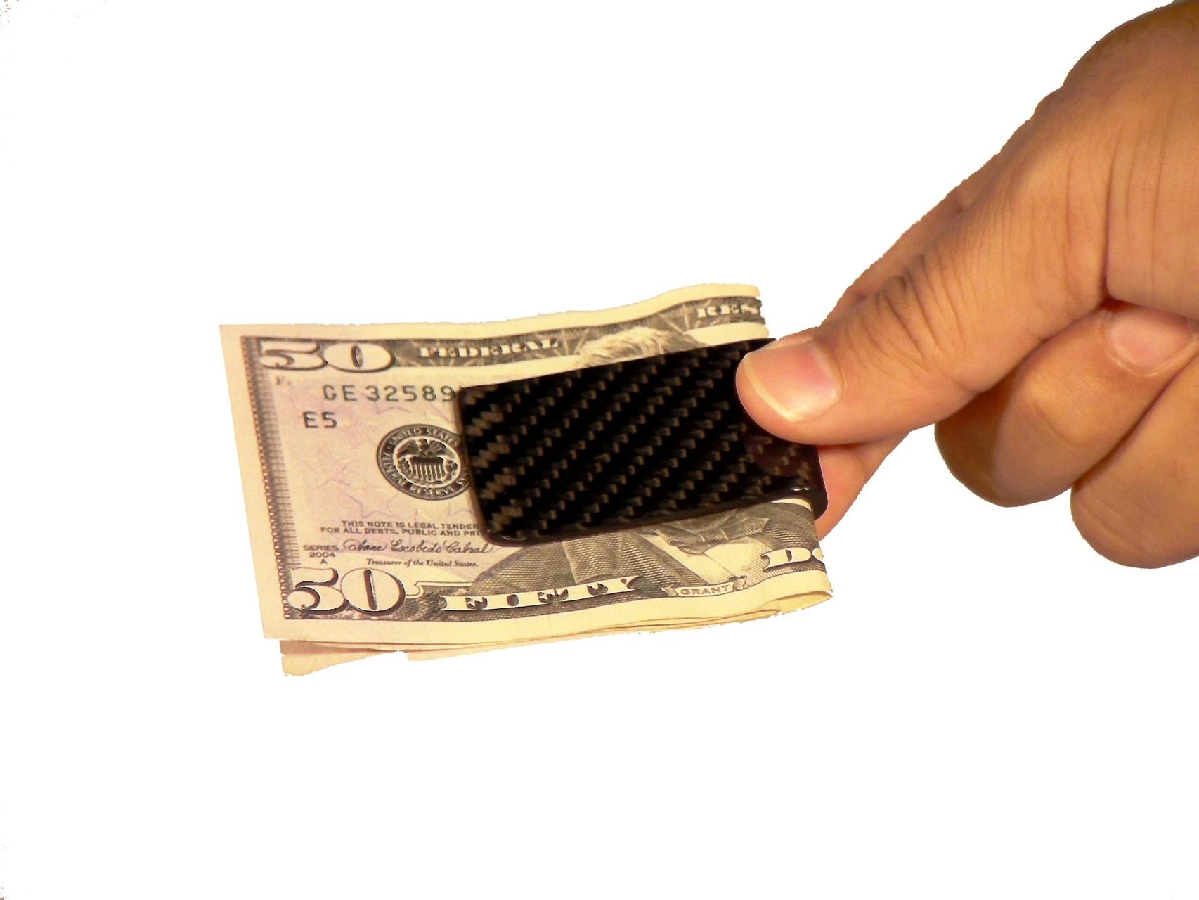 NR Exclusive Carbon Fiber Design-- Money Clip