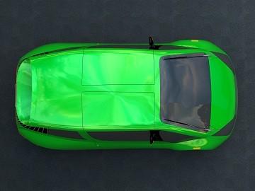 NR-1 Supermileage Car --200 Miles Per Gallon-- Top View