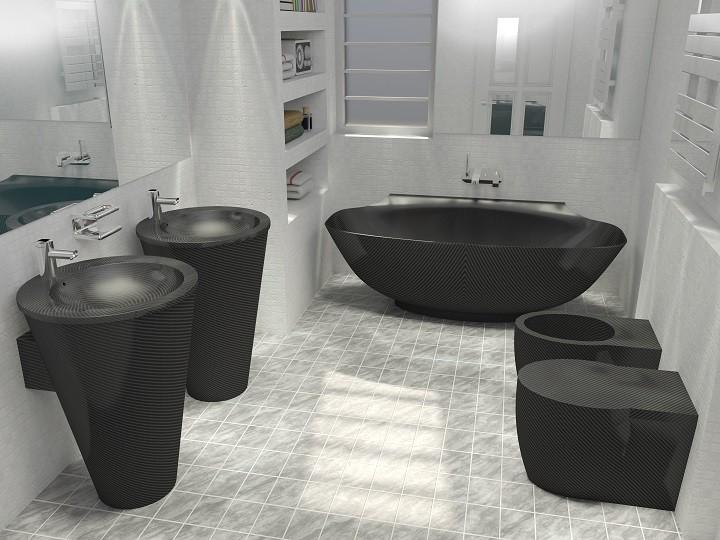 NR Exclusive Carbon Fiber Design Bathroom