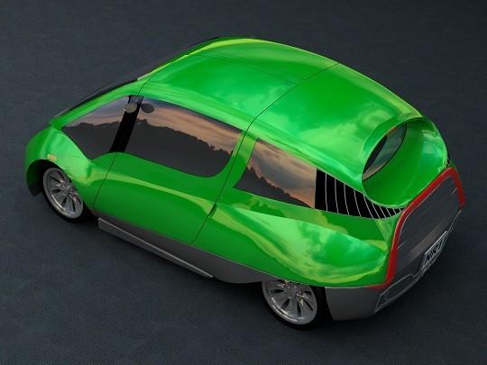 NR-1 Supermileage Car --200 Miles Per Gallon-- Iso Back View