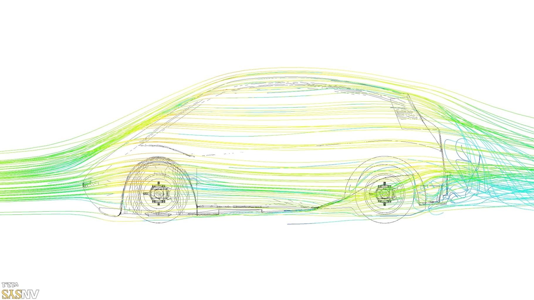 NR-1 Supermileage Car --200 Miles Per Gallon-- Virtual Wind Tunnel Testing