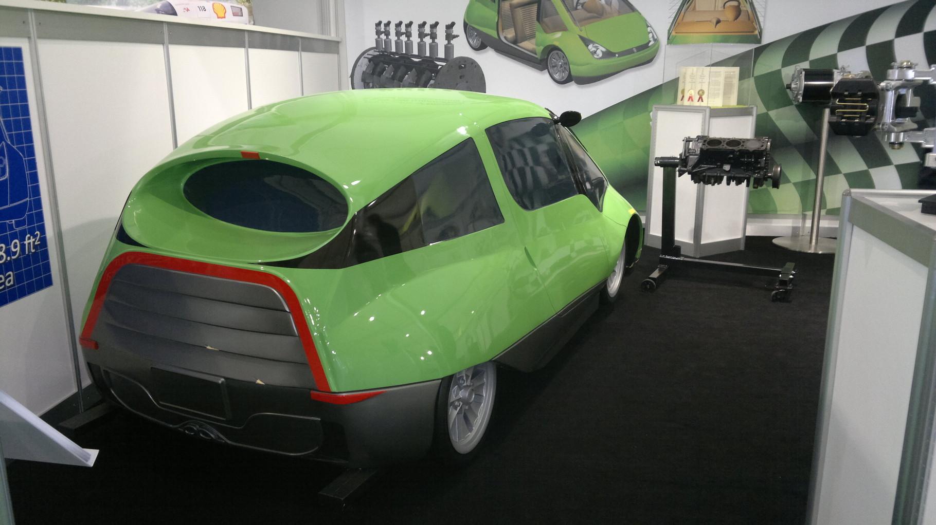 NR-1 Supermileage Car --200 Miles Per Gallon-- Iso View