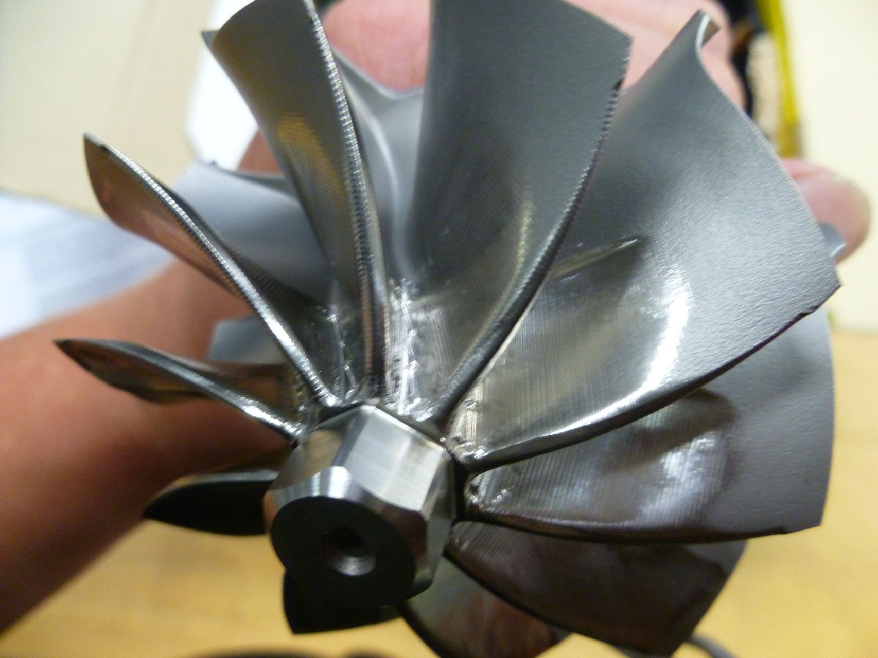 Inconel Turbine Impeller Re-Machining-Reverse Engineering, CAD Generation and 5 Axis Machining