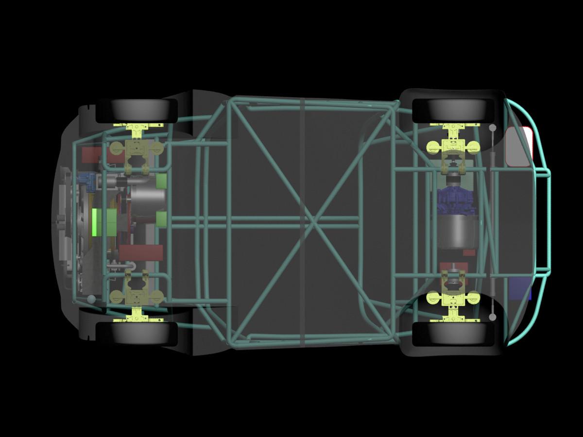 NR-1 Supermileage Car --200 Miles Per Gallon-- Suspension / Chassis