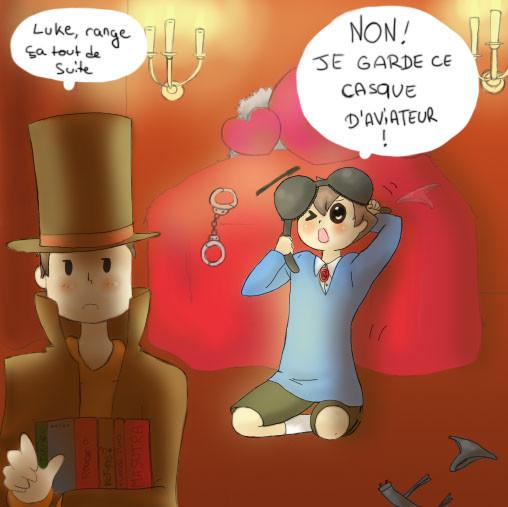 Dessin de Pouette ~ Layton et le village bizarre ~ Episode 18 (2min15)
