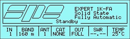 Schermata in stand by e radio in RX