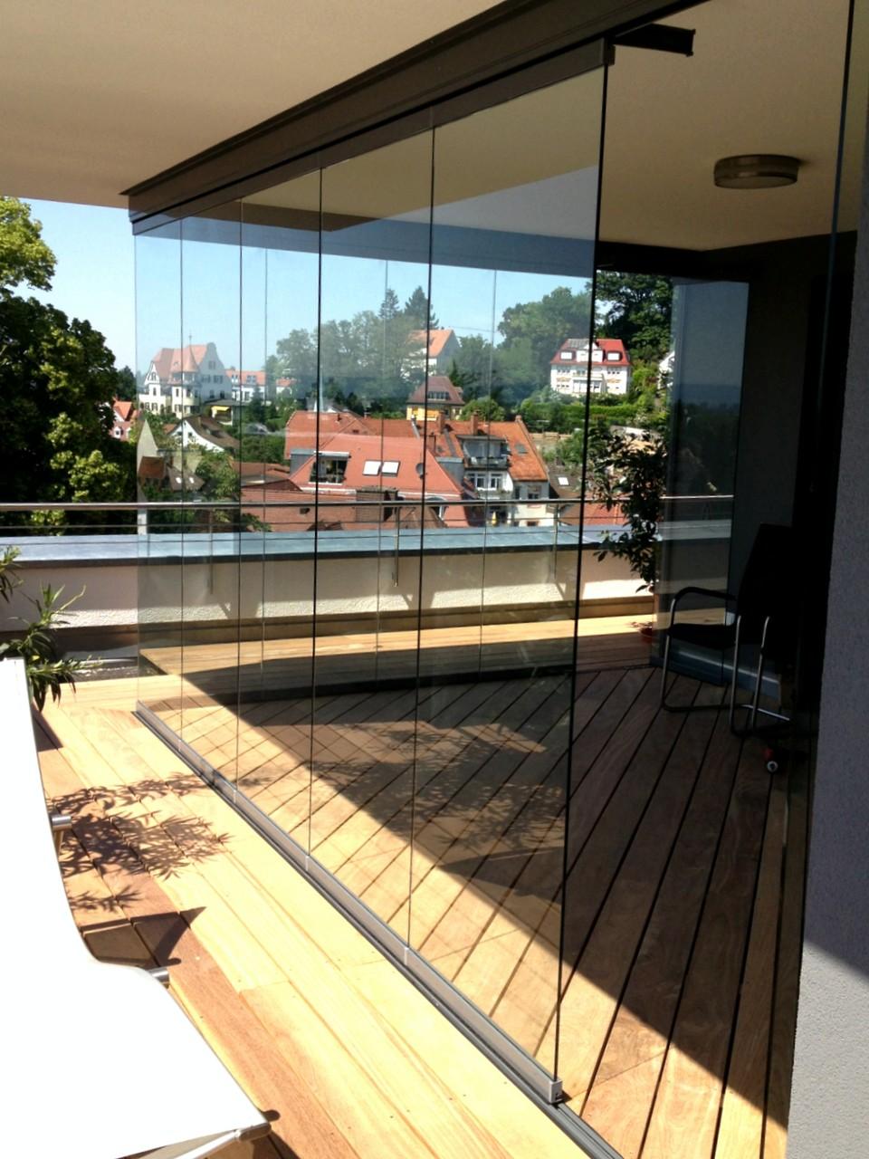 Glasschiebeelemente bei einem Penthouse