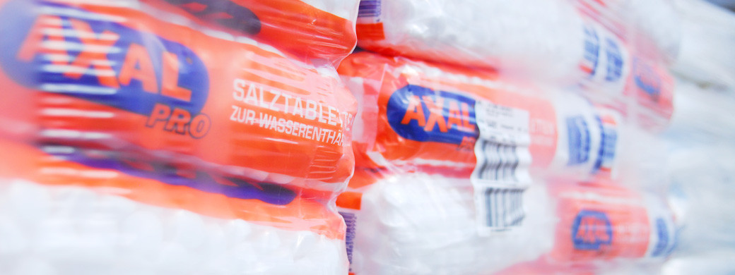Salztabletten - Wasserenthärtung