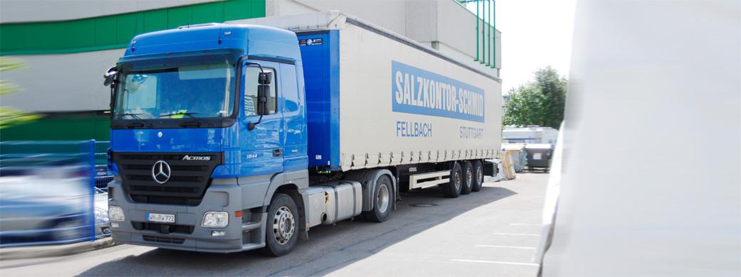 Spedition-Weissinger International für Salzkontor Schmid, Salzgroßhandel Stuttgart