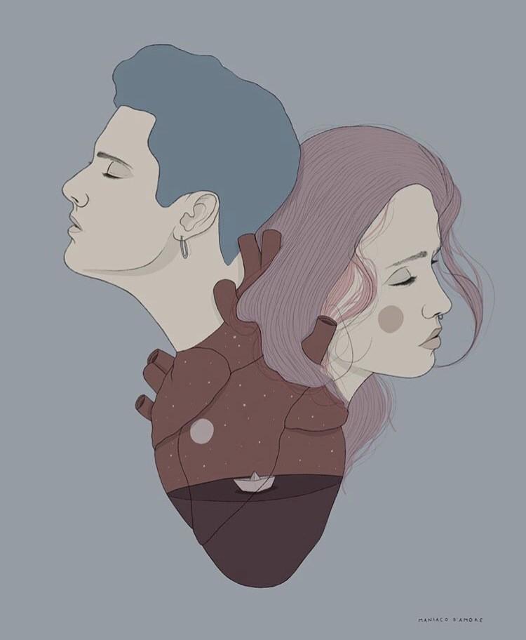 Le illustrazioni di Maniaco d'Amore