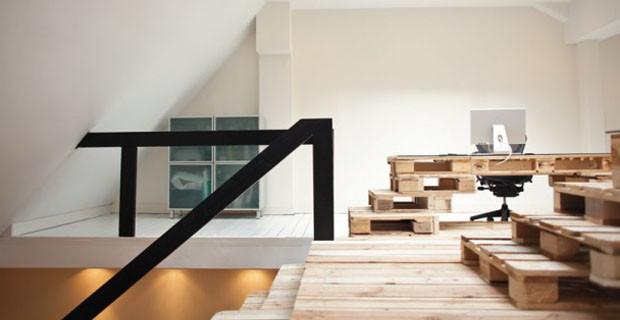 Riciclare i pallet per l'arredamento e le strutture architettoniche