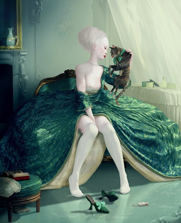 LOWBROW ART o SURREALISMO POP. Frech  kiss  di Ray Caesar