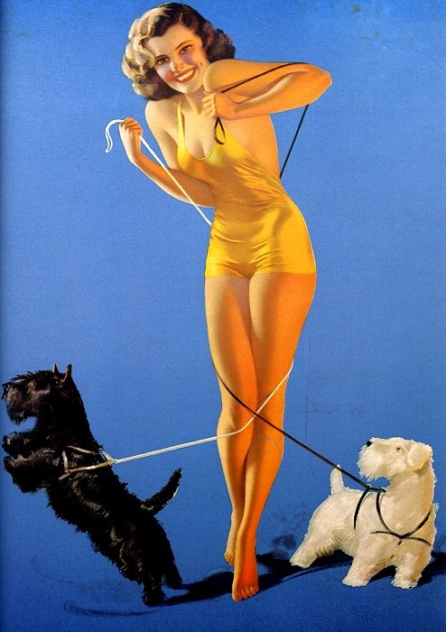 Pin-up. Illustrazione di Rolf Armstrong