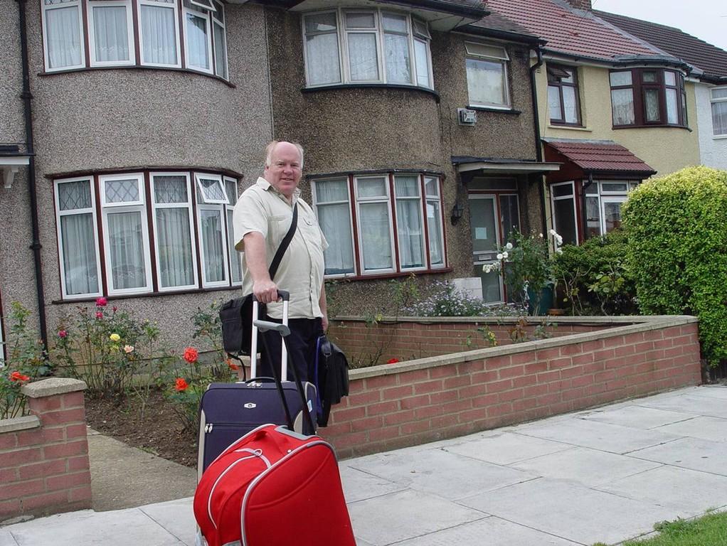 Steve Masterson - мой лондонский друг провожает меня в кругосветку.