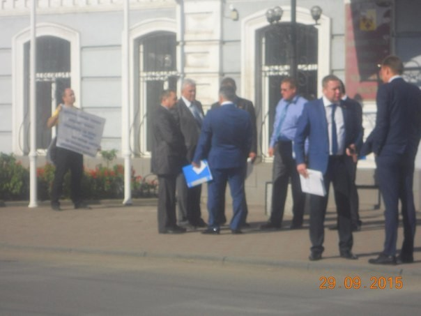 Одиночные пикеты против ТМЗ, осень 2015