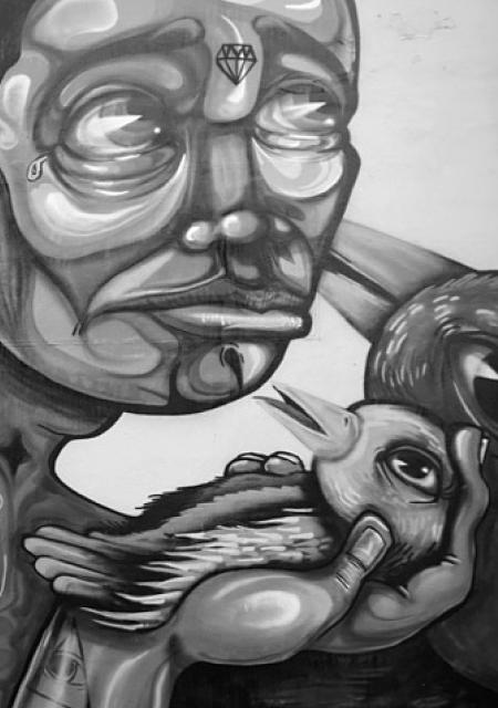 Graffiti vom Wynwood Art District in Miami. Künstler unbekannt. Yogamami fand es passend für den Eintrag über Postnatale Depression
