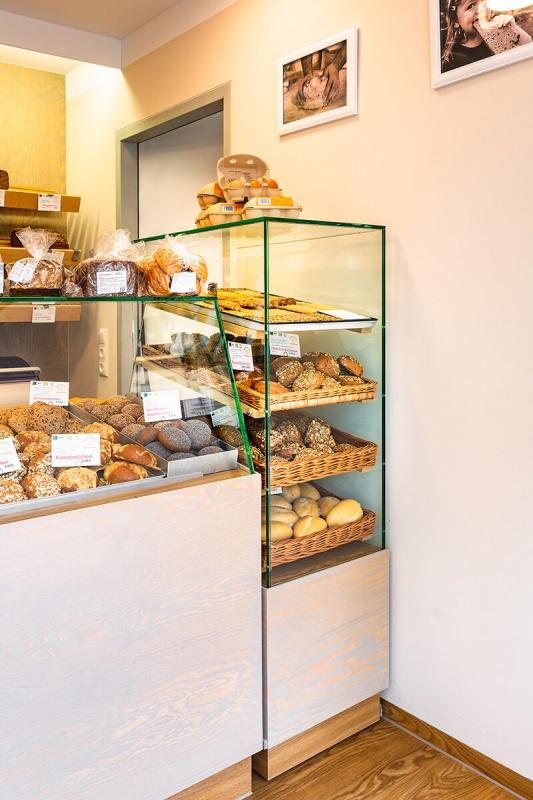 Gestaltung und Herstellung des neuen Backshops der Mühlenbäckerei