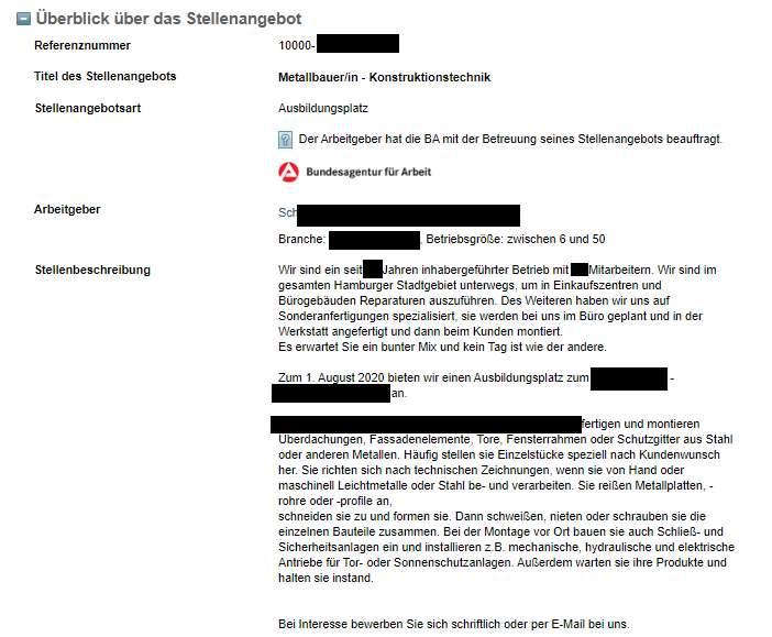Stellenangebote schreiben Azubis finden Hamburg