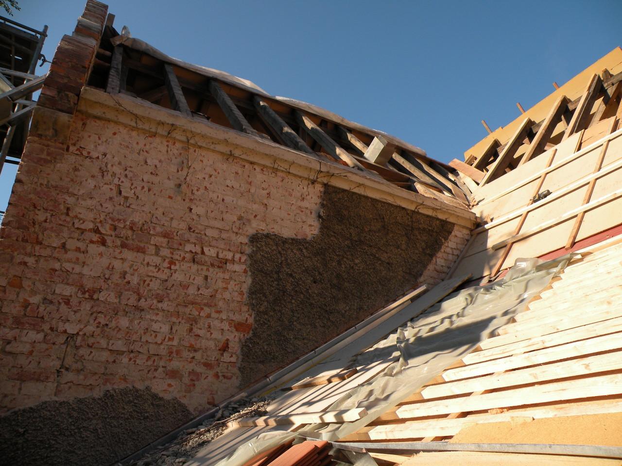 Blick aufs offene Dach