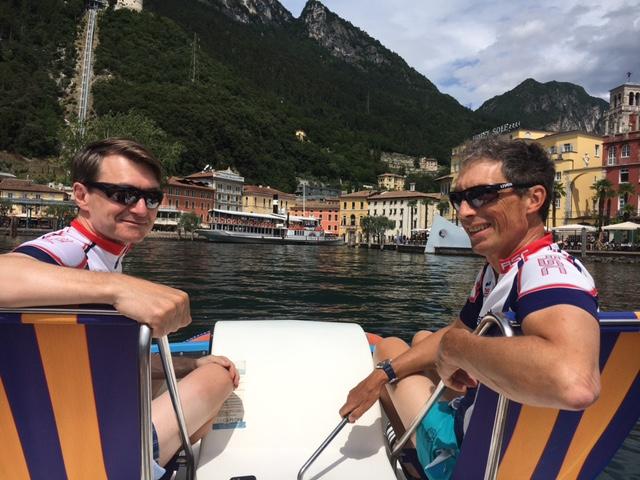 Juli 2021 - Christian und Udo radeln auf dem Gardasee