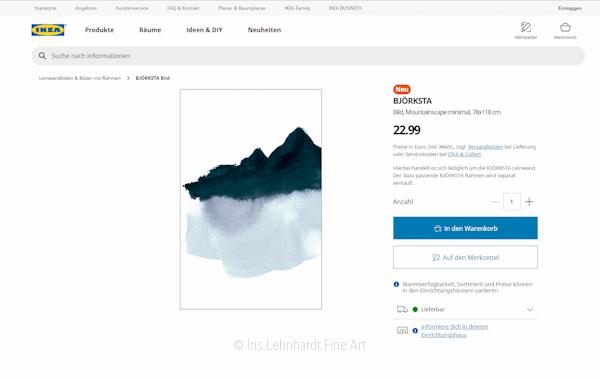 """""""Mountainscape minimal"""" exklusiv bei IKEA"""