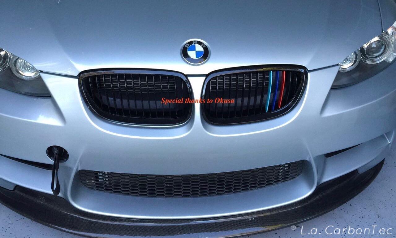 Gloss Black Single Slat Grills With Painted M Stripes For F30