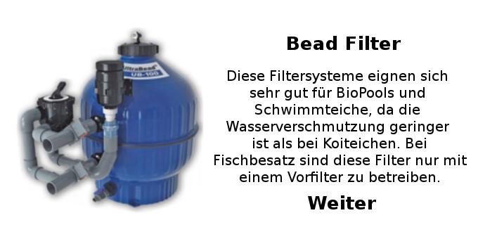 Schwimmteichtechnik Biopool traumteich schwimmteich filtersystem beadfilter filter ultrabeadfilter