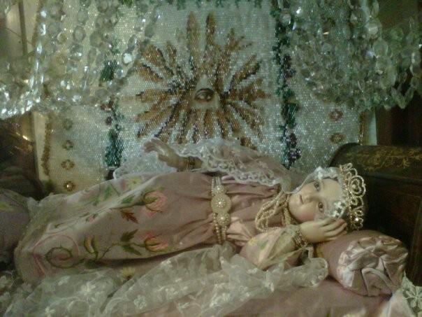 Imagen Original de María Niña venerada en el convento San José de Gracia en la ciudad de México