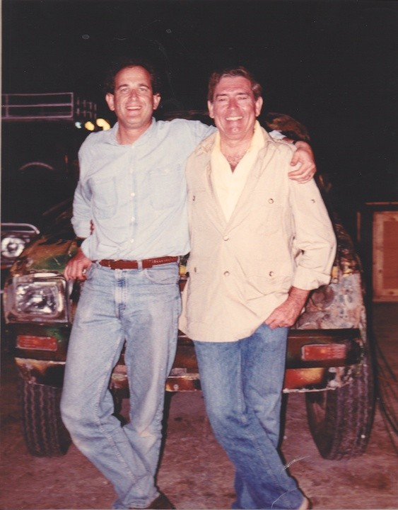 With Dan Rather in Somalia before US invasion.