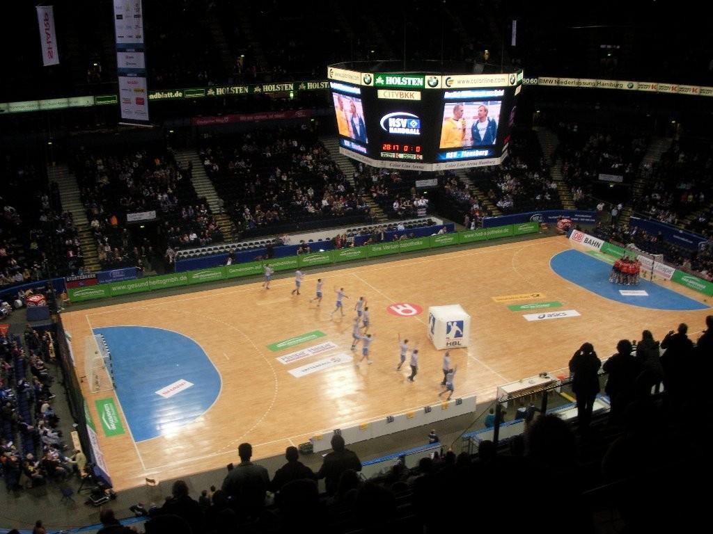 Handballspiel Hamburg : Flensburg